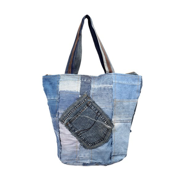Torebka Blue and White Recycled Denim