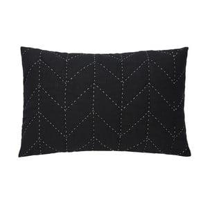 Czarna pikowana poszewka na poduszkę A Simple Mess Molly, 60x40cm