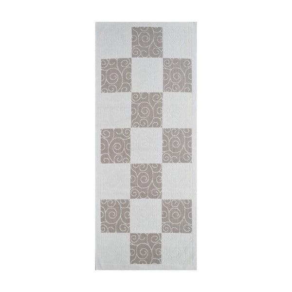 Beżowy wytrzymały dywan Vitaus Patchwork, 80x200 cm