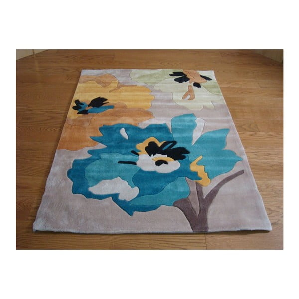 Dywan Bloom Teal Ochre, 120x170 cm