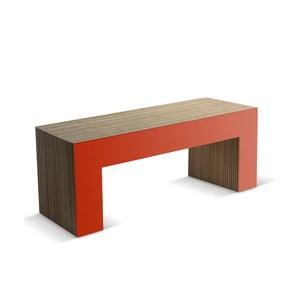 Kartonowa ławka Panca Red, 120 cm