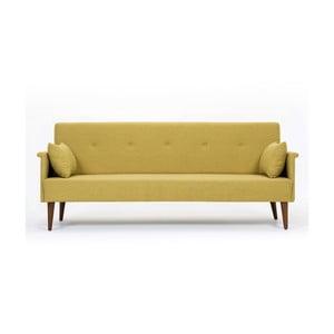 Żółta sofa rozkładana Balcab Home Julia