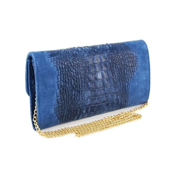 Skórzana kopertówka Snakesi Blue