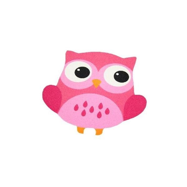 Dywan Owls - jasnoróżowa sowa, 66x66 cm