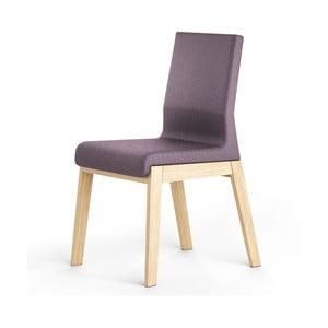 Ciemnofioletowe krzesło dębowe Absynth Kyla