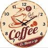 Szklany zegar Endless Cup, 34 cm