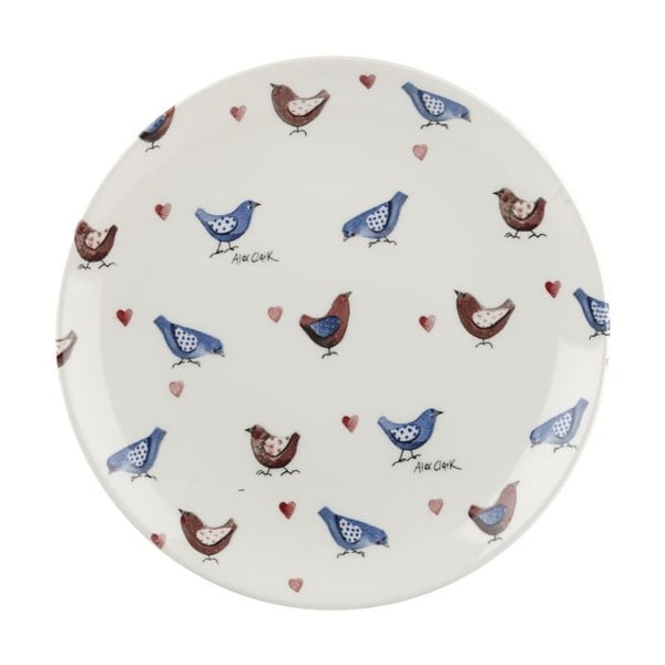 Komplet 6 talerzy deserowych Churchill China Lovebirds, 20 cm