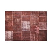 Dywan wełniany Allmode Brown Yan, 180x120 cm