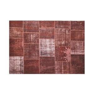 Dywan wełniany Allmode Brown Yan, 150x80 cm