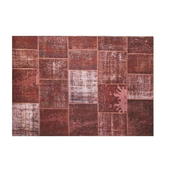 Dywan wełniany Allmode Brown Yan, 200x140 cm