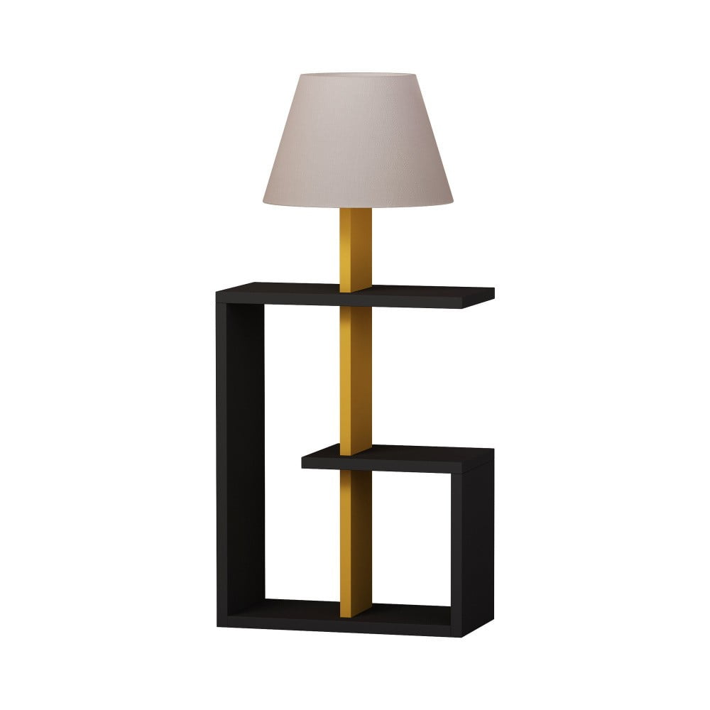 Antracytowa lampa stojąca Homitis Saly