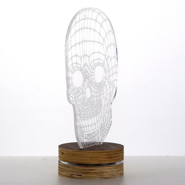 Lampa 3D stołowa Skull
