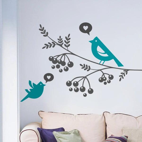 Naklejka Ptaki i jarzębina, 70x50 cm