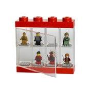 Czerwona witryna kolekcjonerska na 8 figurek LEGO®