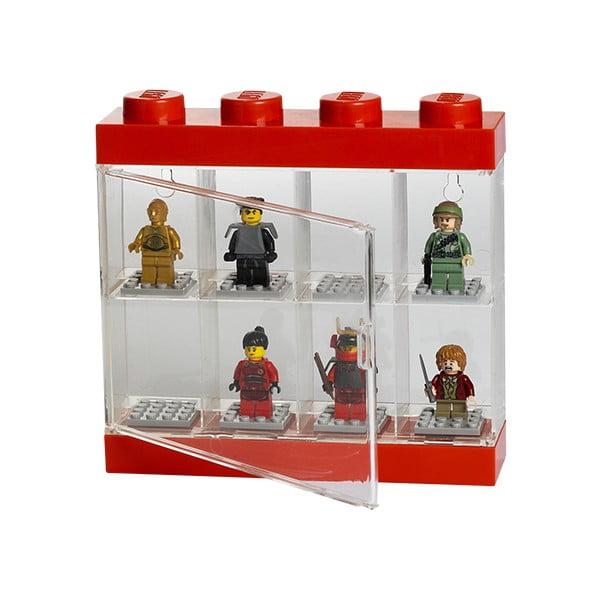 Czerwona witryna kolekcjonerska na 8 figurek LEGO