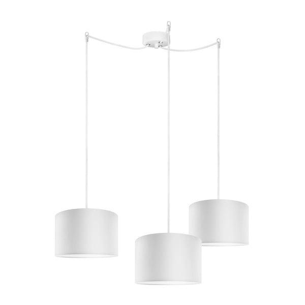 Biała potrójna lampa wisząca Bulb Attack Tres,⌀25cm