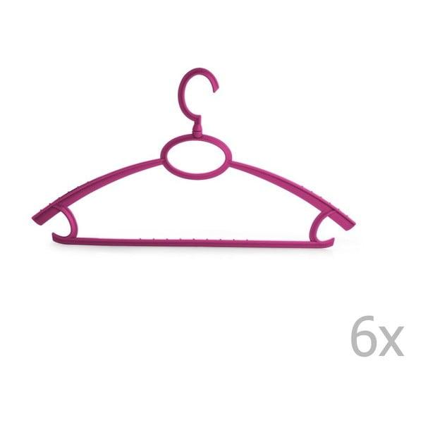 Wieszak Bonita UNO Purple, 6 sztuk
