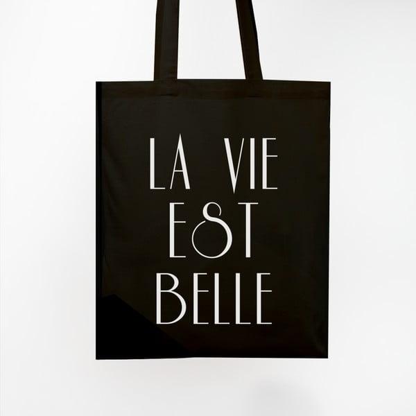 Torba płócienna La Vie Est Belle Black