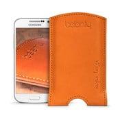 Skórzane etui na Samsung Galaxy S4 mini Cognac