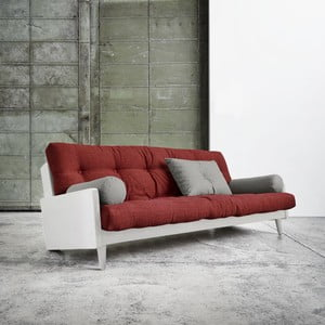 Sofa rozkładana Karup Indie White/Passion Red/Granite Grey