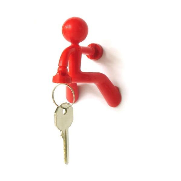 Magnetyczny uchwyt na klucze Key Pete, czerwony