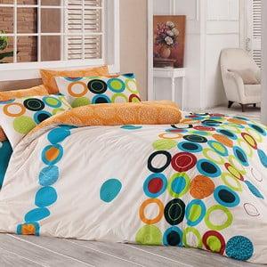 Pościel z prześcieradłem na dwuosobowe łóżko Benetton Happy, 200x220 cm