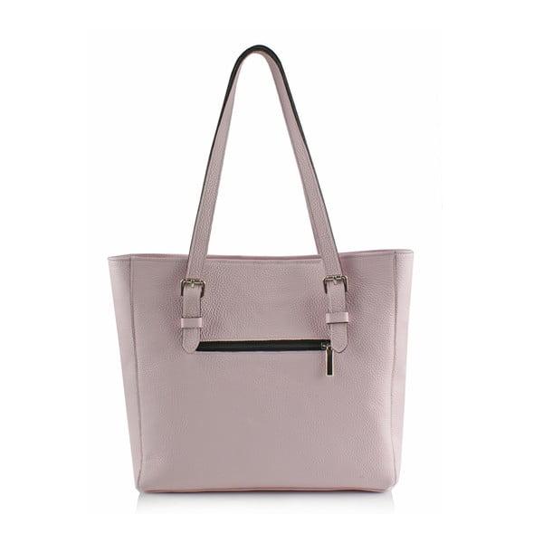 Skórzana torebka Boscollo Grey Pink3328