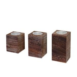 Komplet 3 świeczników Mendler Shabby Teave
