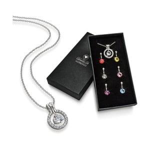 Naszyjnik z 7 wisiorkami z kryształami Swarovski GemSeller Verum