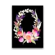Plakat z kwiatowym wieńcem, 30 x 40 cm