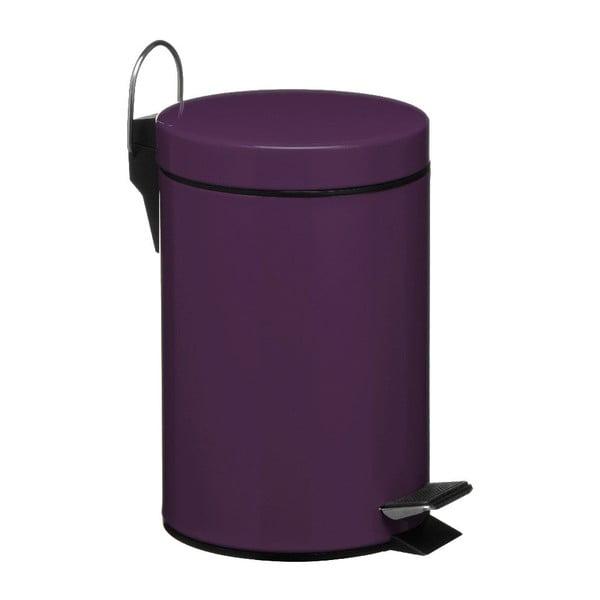 Fioletowy kosz na śmieci z pedałem Premier Housewares, 3 l