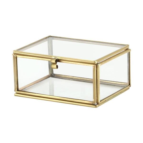 Zestaw 2 szklanych pojemników Brass