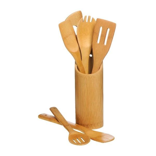 Zestaw 6 akcesoriów kuchennych ze stojakiem Premier Housewares Bamboo