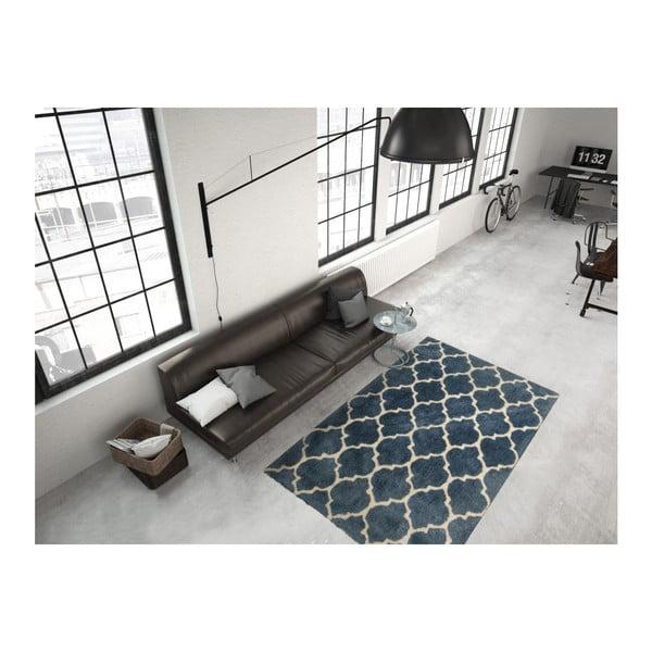 Niebieski dywan Smooth, 120x170cm