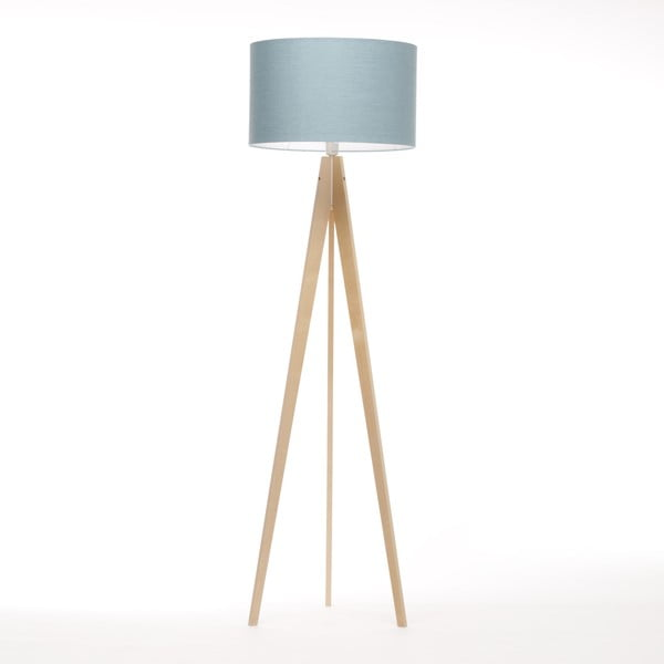 Lampa stojąca Artist Light Blue Linnen/Birch Natural, 125x42 cm