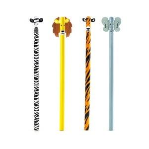 Komplet 4 ołówków Kikkerland Safari