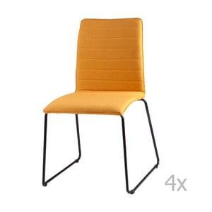 Zestaw 4 żółtych krzeseł sømcasa Vera
