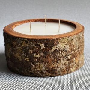 Palmowa świeczka Legno o zapachu wanilii i paczuli, 40 godzin palenia
