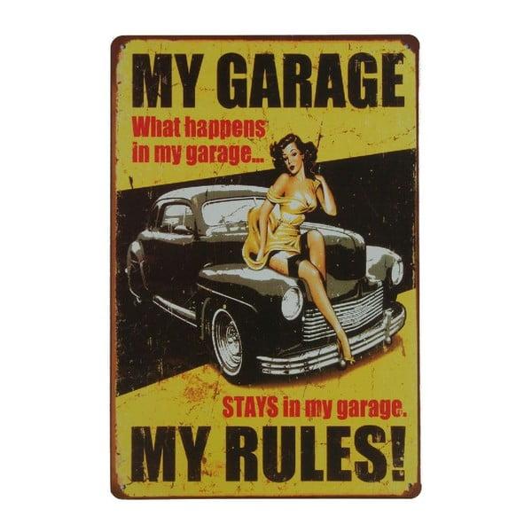 Tablica My Garage, 20x30 cm