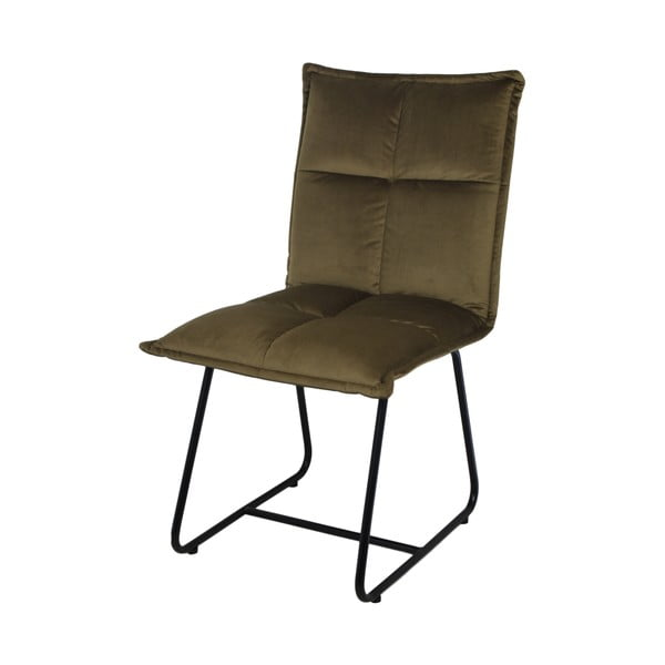 Oliwkowe krzesło do jadalni z aksamitnym obiciem HSM collection Estelle