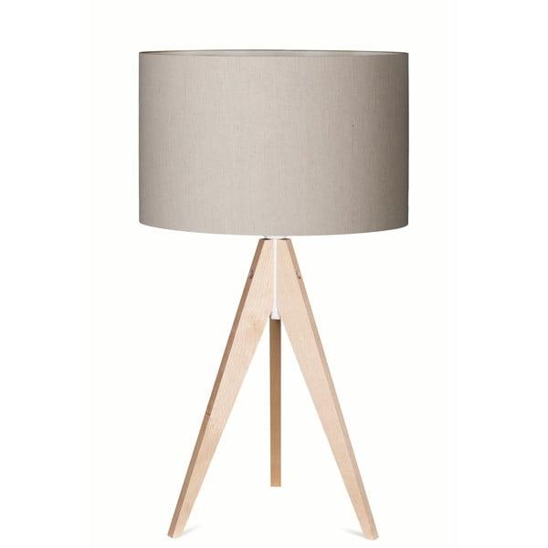 Lampa stołowa Artist Grey Linnen/Birch, 65 cm