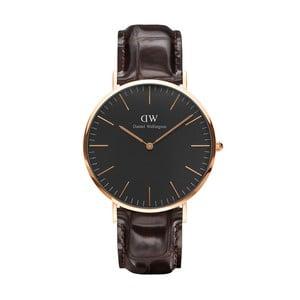Brązowy zegarek unisex DanielWellingtonYork Gold