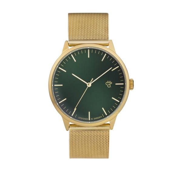 Zegarek w złotej barwie z zielonym cyferblatem CHPO Nando