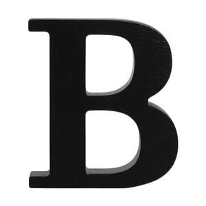 Czarna drewniana litera Typoland B
