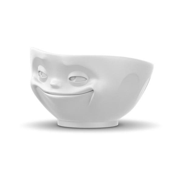 Matowobiała porcelanowa uśmiechnięta miska 58products