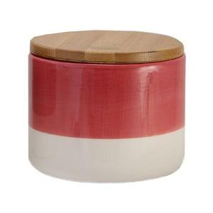 Czerwono-biały pojemnik ceramiczny Strömshaga Majken, 10 cm