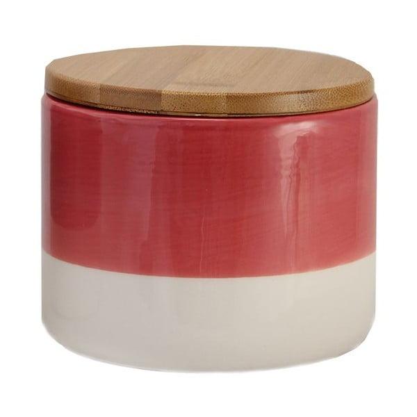 Pojemnik ceramiczny Majken Small Red/White