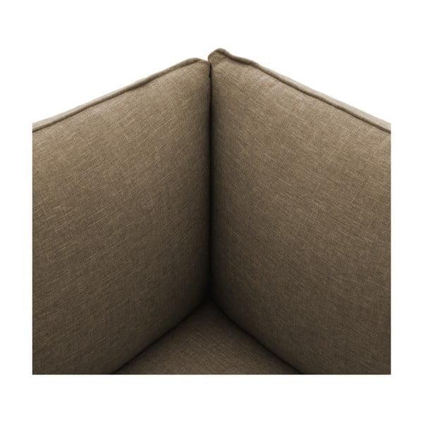 Sofa trzyosobowa VIVONITA Cube Sawana z podnogiem, ciemny beż