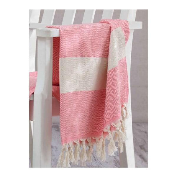 Ręcznik hammam Elmas Pink, 100x180 cm