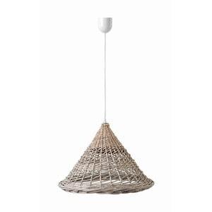Lampa wisząca Kapi, 35x26 cm, brązowa